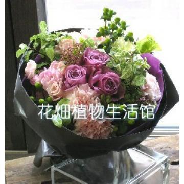 红玫瑰鲜花花束 - 豪华法式包装红玫瑰花束浪漫喔