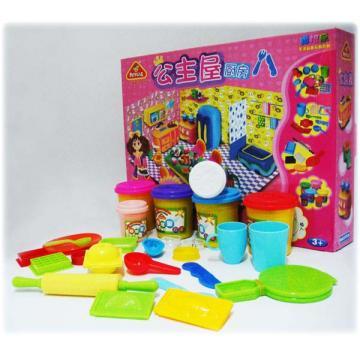 > 【美仕达培培乐】正品彩泥 公主屋厨房彩泥 橡皮泥套装 塑胶玩具