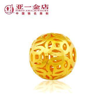 95克铜钱财源滚滚红绳手链可调节16厘米(工费90元)